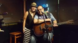 Eve and Paparo at  the Blue Pointe Bar and Grill