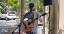 Justin Jeffreys at  the Blue Pointe Bar and Grill