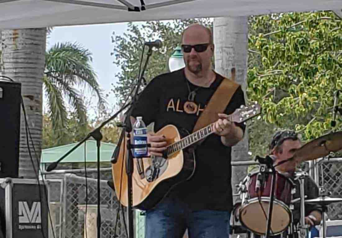 Jason Colannino at the Blue Pointe Bar and Grill