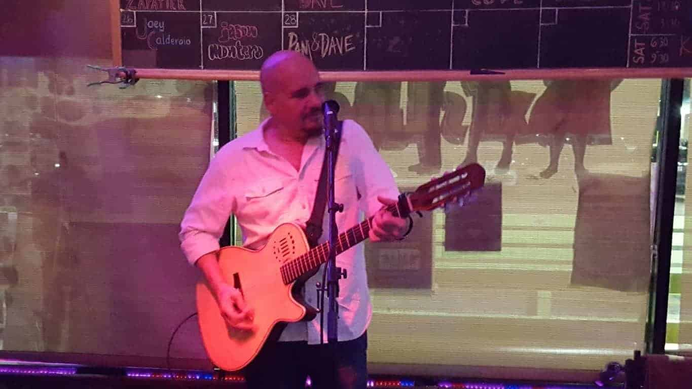 Jason Montero at the Blue Pointe Bar and Grill