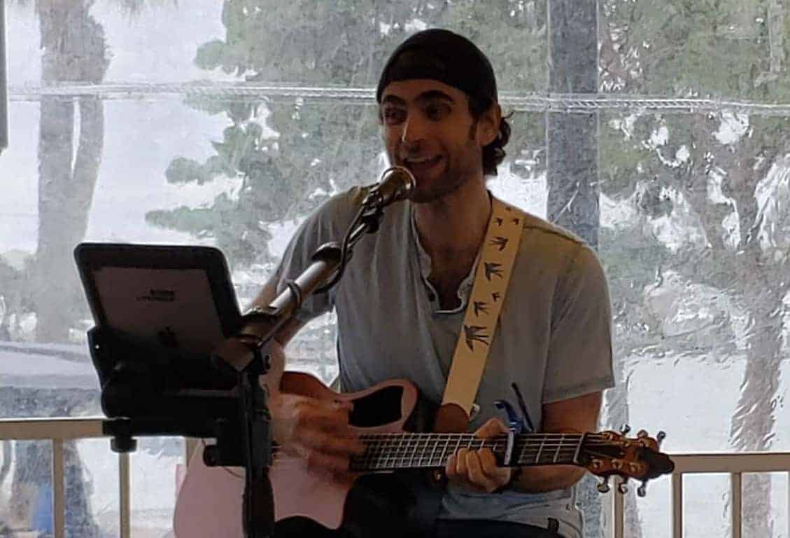 Daniel Ericks at the Blue Pointe Bar and Grill