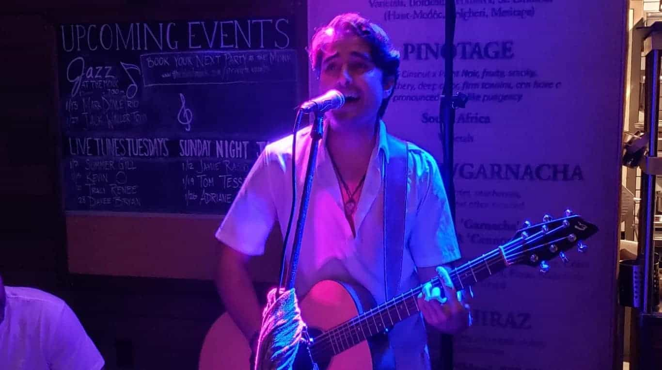 Kevin Ohm at the Blue Pointe Bar and Grill