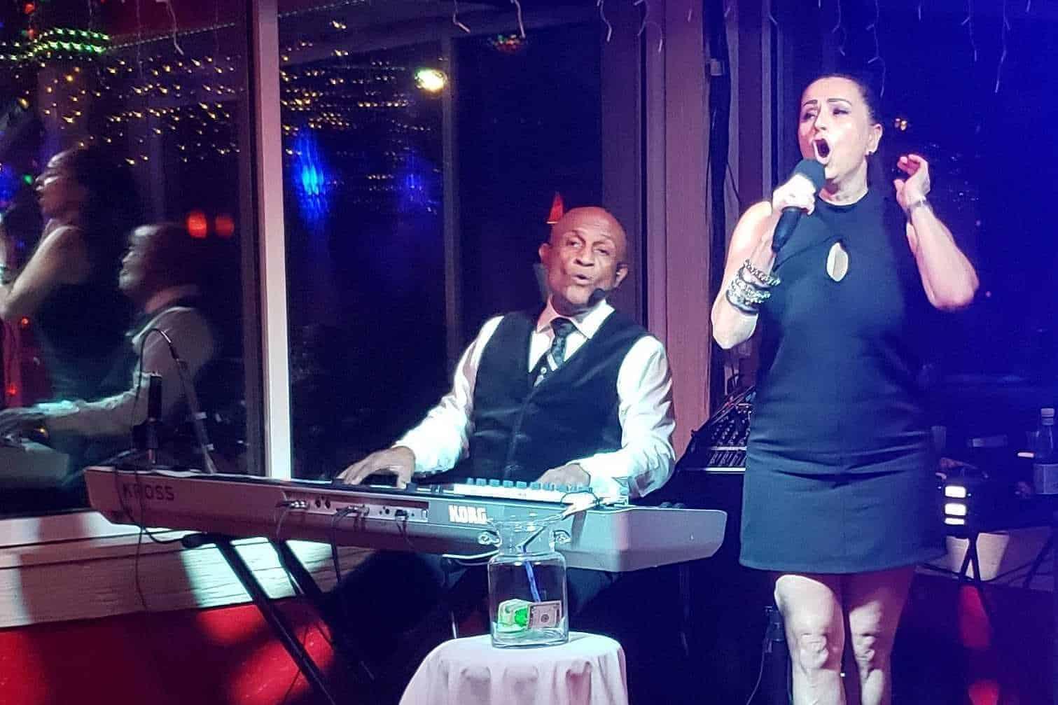 Maycol and Lilian at The Islander Tiki Bar