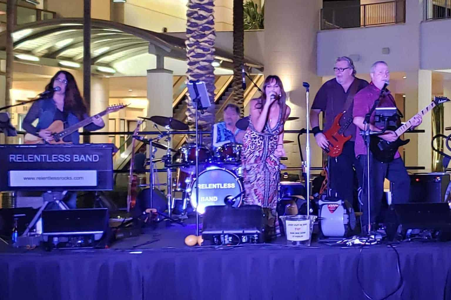 Relentless Band at Downtown Palm Beach Gardens