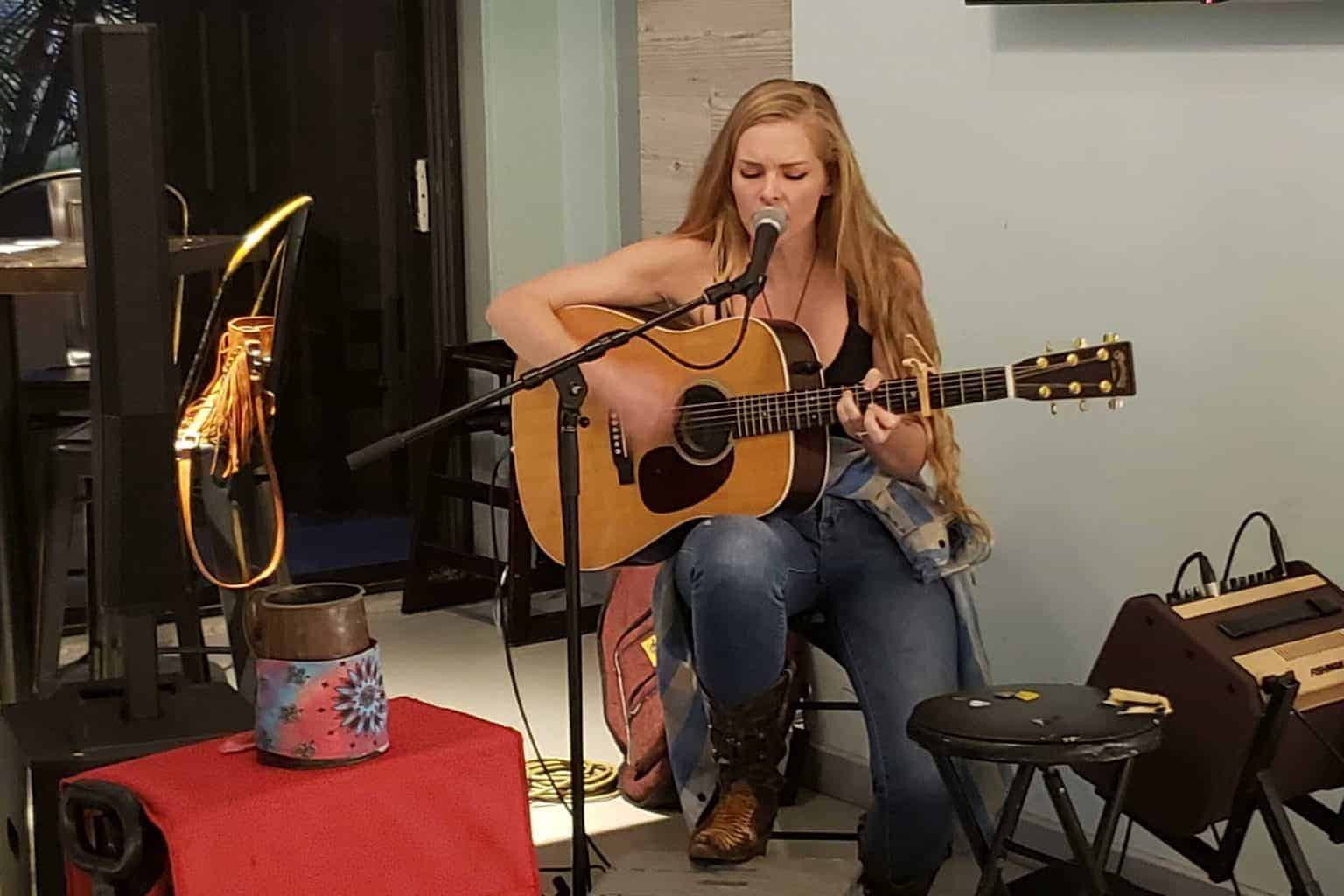 Abby Owens at the Square Grouper